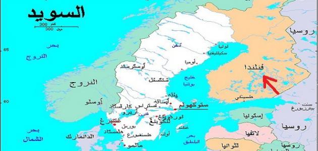 أين تقع فنلندا على الخريطة موقع مصادر