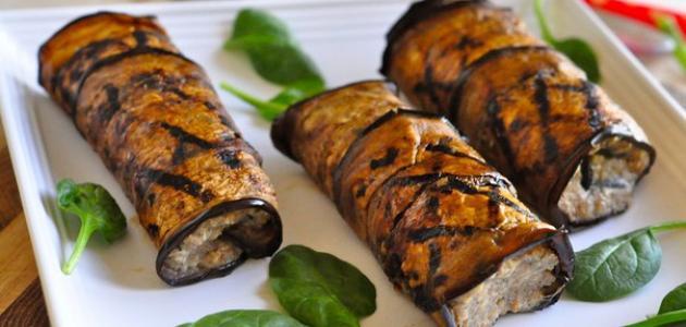 وصفة رول الباذنجان باللحم