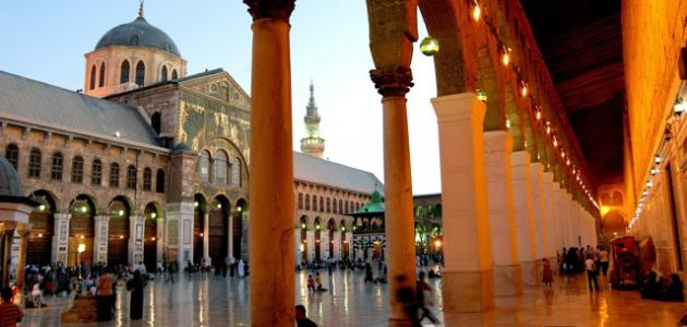 أين يوجد المسجد الأموي موقع مصادر