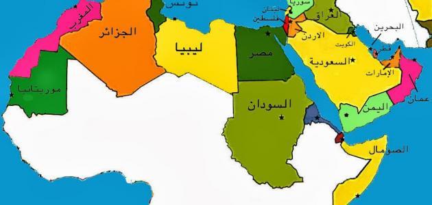 مساحة الدول العربية وعدد سكانها موقع مصادر