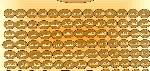 دعاء أسماء الله الحسنى موقع مصادر