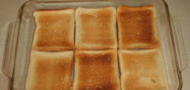 حلى بالخبز البايت الصابح