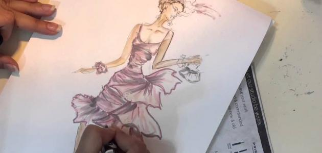 كيف أتعلم رسم الأزياء