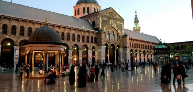 أين يقع المسجد الأموي موقع مصادر