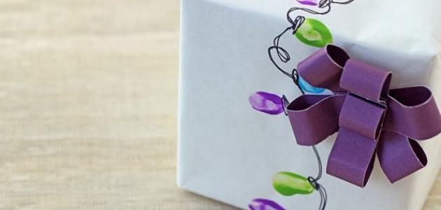 طرق تغليف الهدايا