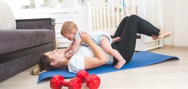 متى يمكن ممارسة الرياضة بعد الولادة