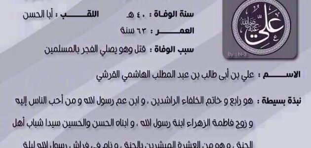 تاريخ ولادة سيدنا علي بن أبي طالب
