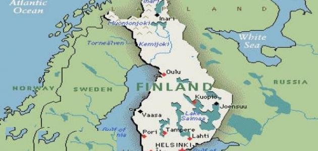 أين تقع فنلندا موقع مصادر
