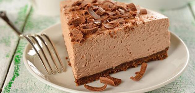 مكونات التشيز كيك بالشوكولاتة